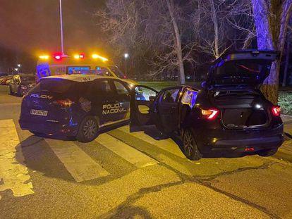 El detenido conducía el Nissan Micra de la víctima, a quien había metido en el maletero.