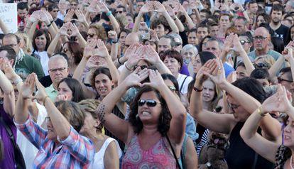 Concentración feminista en Bilbao.