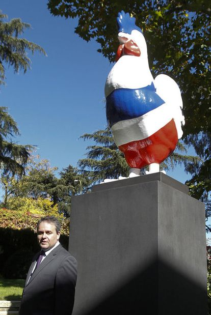 Xavier Bertrand, ayer en la Residencia de Francia en Madrid.