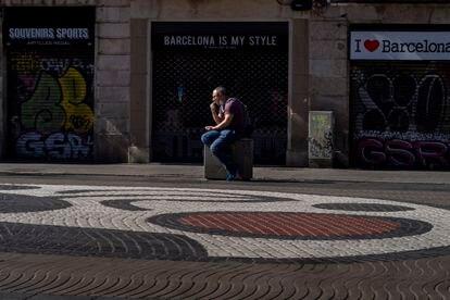 Las Rambla de Barcelona presentan un aspecto de abandono