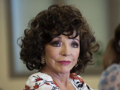 Joan Collins, en la presentación de una serie en Madrid en octubre de 2020.
