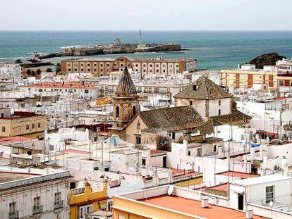 Vista panorámica de la ciudad de Cádiz.