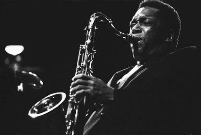 Actuación de John Coltrane en Bélgica, en 1965.