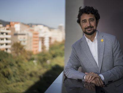 El consejero de Territorio, Damià Calvet, y candidato a las primarias de Junts per Catalunya. GIANLUCA BATISTA