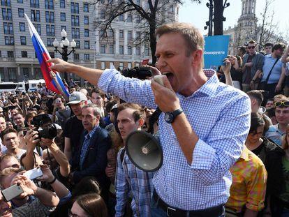 El líder opositor ruso Alexéi Navalni, en un imagen de archivo en 2018.