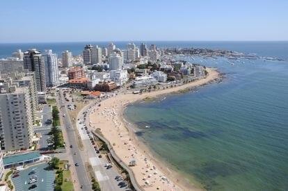 Vista de la ciudad balneraria uruguaya de Punta del Este.
