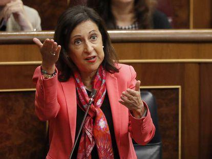 DVD.916 (26-09-18). Madrid. Congreso de los Diputados. Sesion de control al Gobierno. Margarita Robles, Ministra de defensa. © LUIS SEVILLANO.
