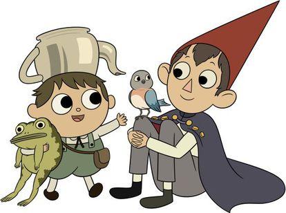 Greg y Wirt junto al pájaro Beatriz.