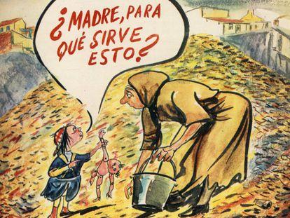 Una portada de 'La Codorniz' dibujada por Herreros en 1973.