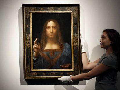 'Salvator Mundi', atribuido a Leonardo da Vinci.