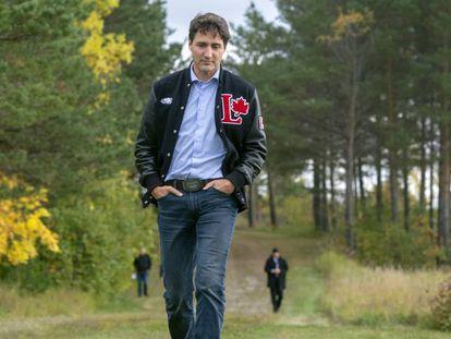 El primer ministro canadiense, Justin Trudeau, el pasado 4 de octubre en Quebec.