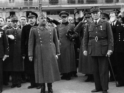 En primer plano, Francisco Franco, en febrero de 1941.