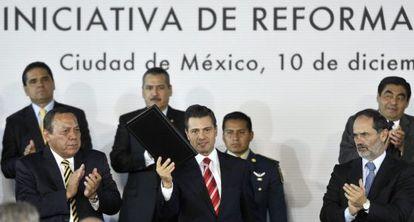 Peña Nieto, hoy tras anunciar la reforma.