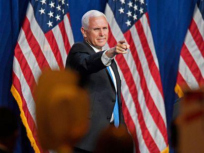 El vicepresidente Mike Pence, el lunes en la Convención Nacional Republicana.