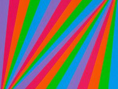 'Ritmo en cinco colores' (1985), óleo de Max Bill.