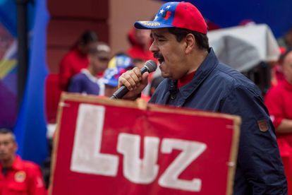El presidente de Venezuela, Nicolás Maduro, celebra el Día de los Trabajadores.