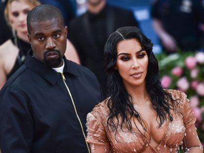 Kanye West y Kim Kardashian en la gala del Met en mayo de 2019.
