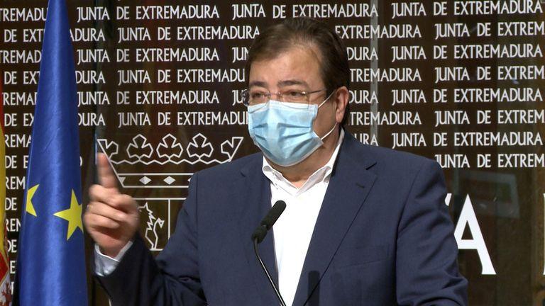 El presidente de la Junta de Extremadura, Guillermo Fernández Vara. /EUROPA PRESS