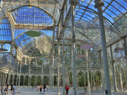 Interior del Palacio de Cristal, uno de los bienes incoados, pendiente de recibir la distinción de Bien de Interés Cultural.