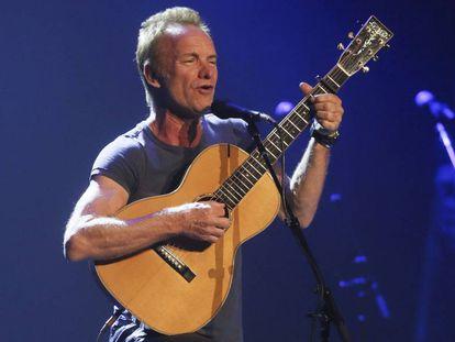 Sting, en un concierto en el Teatro Real de Madrid.