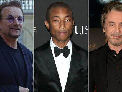 Bono, Pharrell Williams y Jean Michael Jarre.