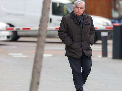 El exdiputado Ramon Camp, este lunes, a la salida de la Audiencia Nacional .