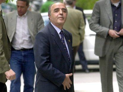 El exgeneral de la Guardia Civil Enrique Rodríguez Galindo a su llegada a la Audiencia Nacional en 2000.