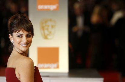 Penelope Cruz a su llegada a los BAFTA.