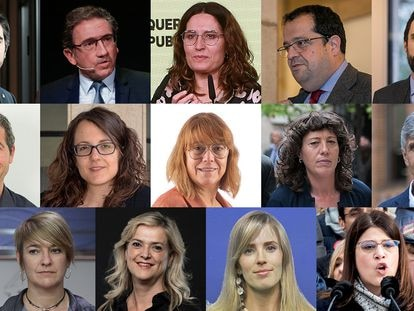 Los 14 'consellers' de Pere Aragonès.