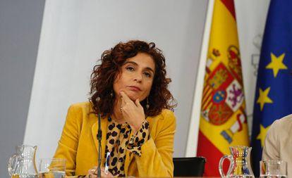 La ministra de Hacienda, Maria Jesus Montero, en el Consejo de Ministros, en el Palacio de La Moncloa.