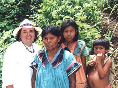 Carmen Sarmiento, en uno de los capítulos de <b></b><i>Los excluidos</i> dedicados a las comunidades indígenas.