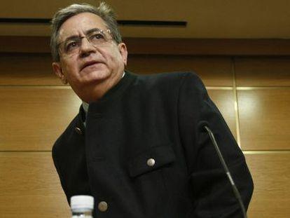 El director de Aerocas, Juan García Salas, ayer en la conferencia.