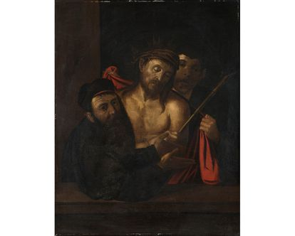 Copy of Caravaggio's eccehomo appeared in Madrid auctioned in Milan in 2013.