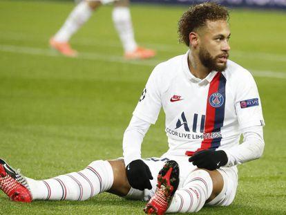 Neymar, en el duelo ante el Galatasaray en la Liga de Campeones.