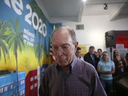 Michael Bloomberg, este martes en Miami.