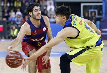 Abrines y Vicedo en un Barça-Estudiantes.