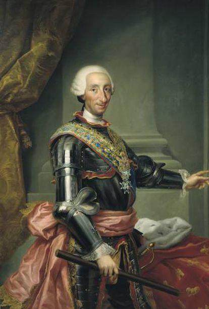Retrato de Carlos III, realizado por Mariano Salvador Maella.