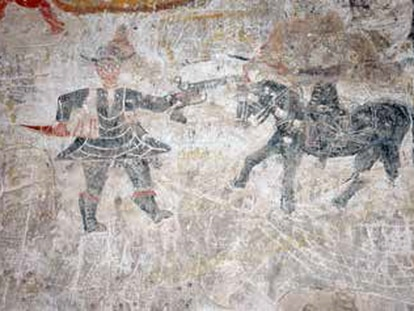 El bandido del castillo de Cuevas de Almanzora se retrata asaltando a una autoridad.