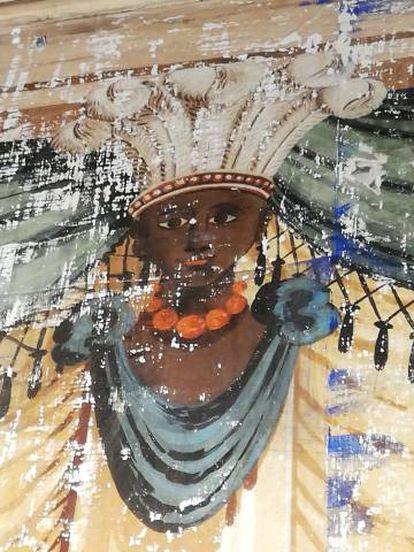 Pintura mural en el palacio de Torremejía.