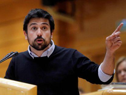 Ramón Espinar, durante una comparecencia en el Senado.