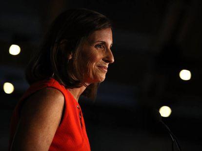 Martha McSally celebra la vitoria en Tempe, Arizona, el martes.