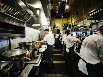 La cocina de un restaurante.
