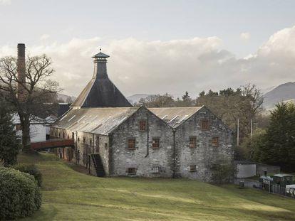La destilería Aberfeldy, en Escocia.