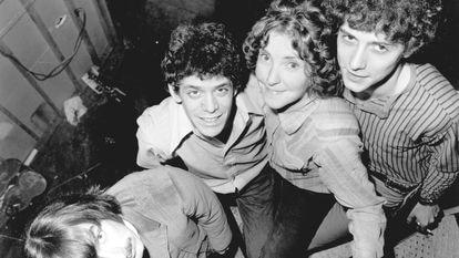 "Sterling Morrison, Lou Reed, Maureen ""Moe"" Tucker y Doug Yule de la Velvet Underground en 1970."