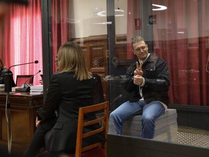 Norbert Feher en la Audiencia de Teruel durante el juicio por intento de homicidio el pasado febrero.