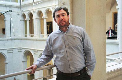 José Manuel Martínez en el campus de la Universidad de Harvard.