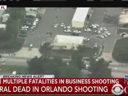 Retransmisión en directo del dispositivo policial tras el tiroteo de Orlando.