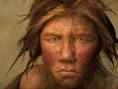 Recreación de una mujer neandertal por los artistas holandeses Andrie y Alfons Kennis.