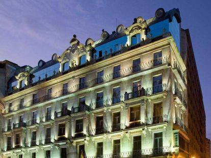 Fachada del hotel NH Palacio de Vigo. En una de sus habitaciones, un acaudalado empresario portugués intentó matar a su esposa en 2016.