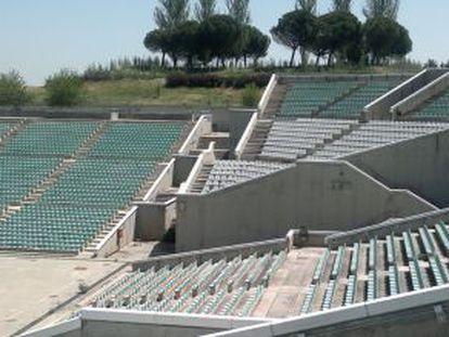 El auditorio 'abandonado' del parque Juan Carlos I.